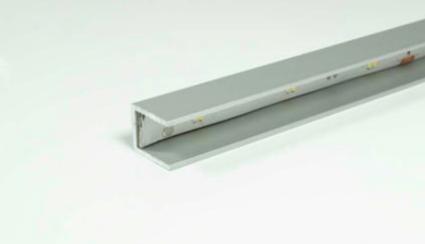 LED Glaskantenprofil 13x11 mm für 8 mm Glas Aluminium EV1 L:2500 mm