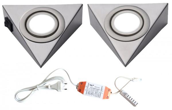 LED-PIRA 2er Set mit Schalter