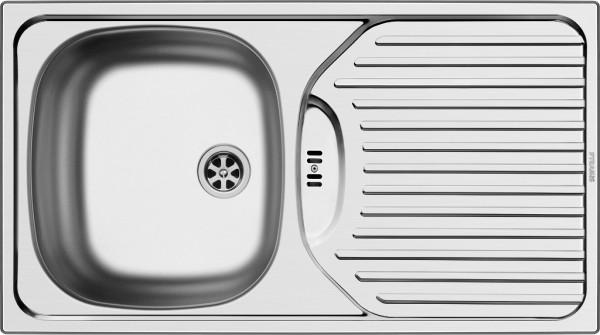 PYRAMIS Edelstahlspüle Spüle ET78 78x43,5cm Einbaubecken ab 45er Schrank Küche