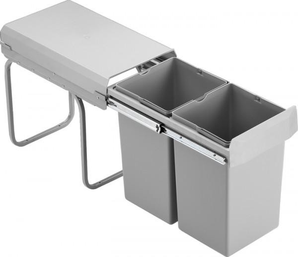 Einbau Abfalleimer Mülleimer Abfallsammler Double Boy Deluxe 2x15 L Vollauszug