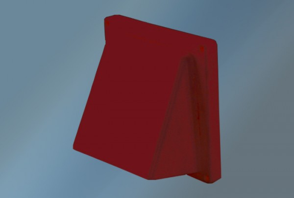 Lüftungshaube Kunststoff, Durchmesser 125, ziegelrot, für Rohr und Schlauch mit Rückstauklappe