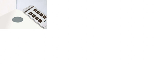 Wireless Charger 12 V sichtbarer Einbau 68 mm Edelstahl Ausgang 5V