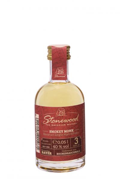 Smokey Monk , Bavarian Single Malt Whisky , 40% vol. 0,05 L ( Karton mit 20 Flaschen)