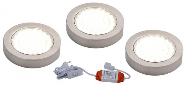 LED ARI- Aufbaustrahlerset 3er mit Konverter, 2m Zuleitung, NW