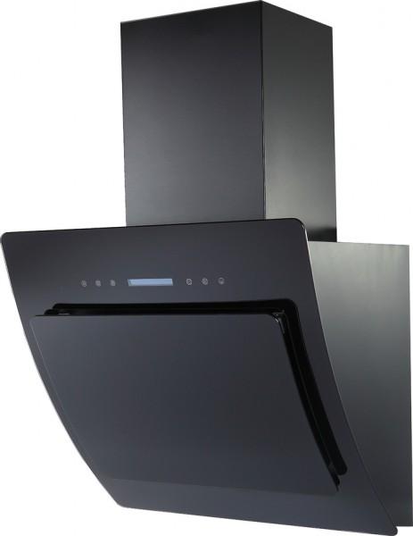 Glashaube 60cm, Schwarz, incl. Schacht Touchsensor incl. FB-Copy
