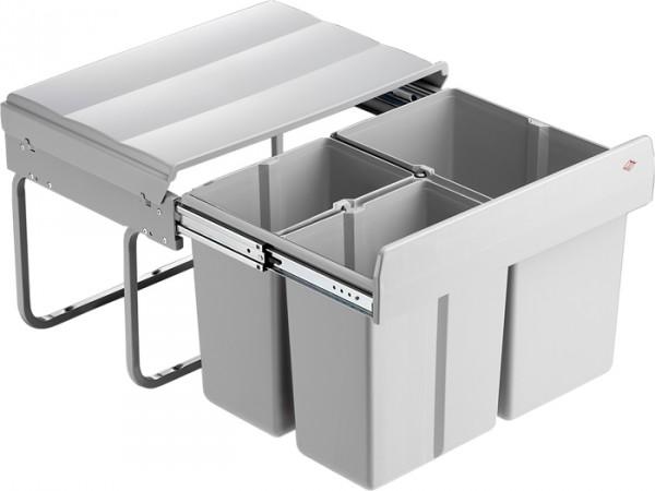 Abfallsammler Einbau Mülleimer Abfalleimer kurze Einbautiefe 30 Liter Vollauszug