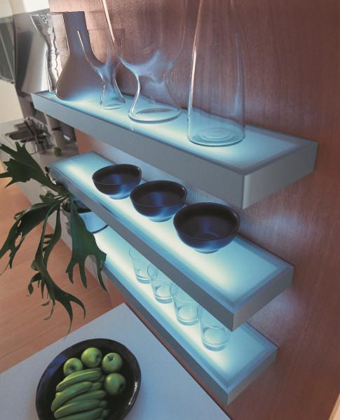 LED Glasbodenleuchte 450 mm, 4 Watt Edelstahl