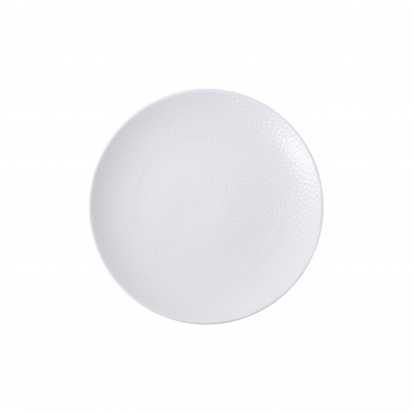 "TC Cobble White Matte Plate 6.5"" (16.5cm)"