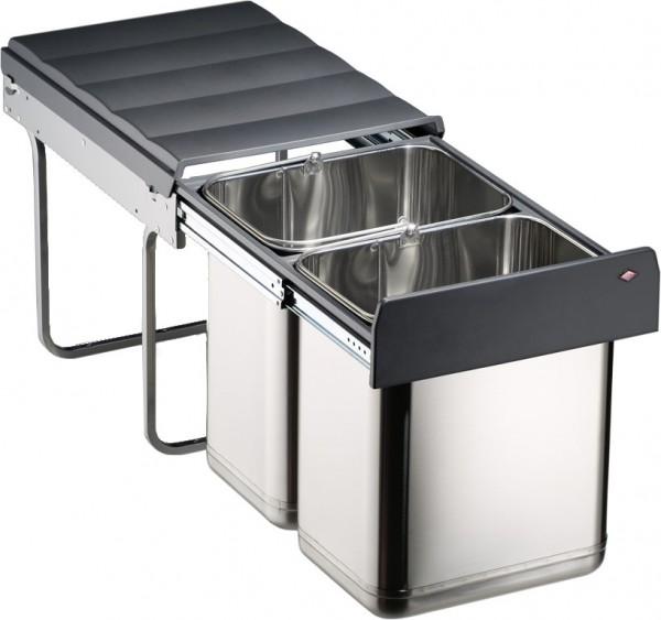 WESCO Edel-Master Abfalleimer Mülleimer Abfallsammler Müllbehälter 40DT 2 x 20 L