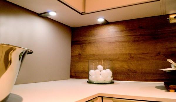 LED-LEUCHTE SIRIO, 3er Set 12 V, inkl. Konverter und Fernbedienung