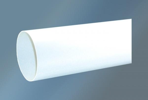 Rundrohr 1000 mm Ø 125 mm, weiß