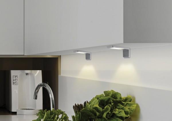 LED Lux Winkelleuchte 3er Set, Funkfernbedienung 9W Leuchtenset, 15W Kon.