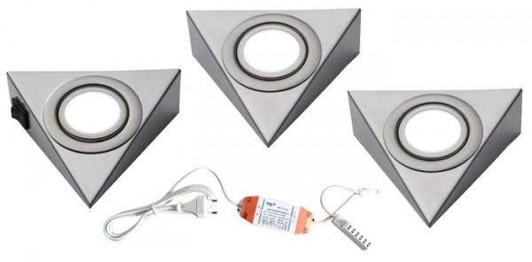 LED-PIRA 3er Set mit Schalter