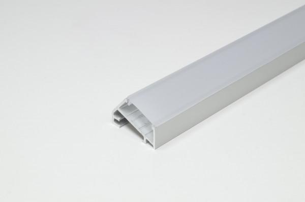 LED Leuchtenprofil Porto 3 23x15 Aufbau, Aluminium EV1 L: 3000 mm