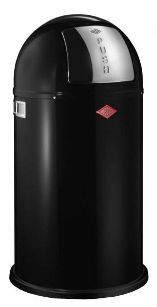 WESCO Abfallsammler Abfalleimer Mülleimer PUSHBOY SCHWARZ 50L, B 400mm, H 755mm