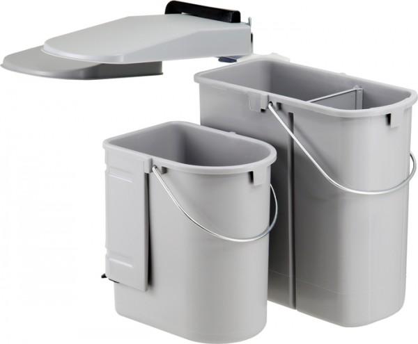 Ökontainer Junior für Schwenktür - ohne Bioeinsatz, grau Abfalleimer Mülleimer