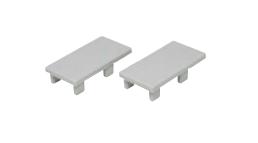 Endkappenset für WTU Profil (2 Stück) Kst silber