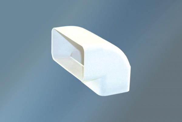 Rohrwinkel senkrecht 90° Ø 125 mm weiß