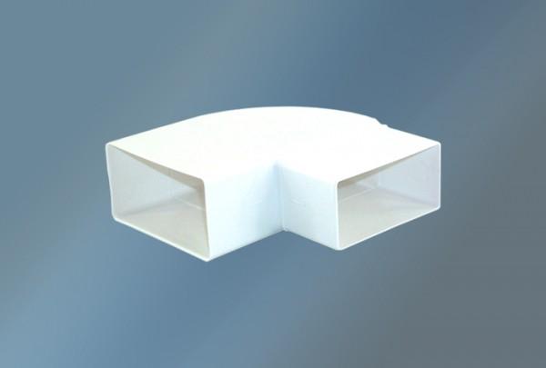 Hochleistungbogen 90° waagerecht Ø 125 mm, weiß