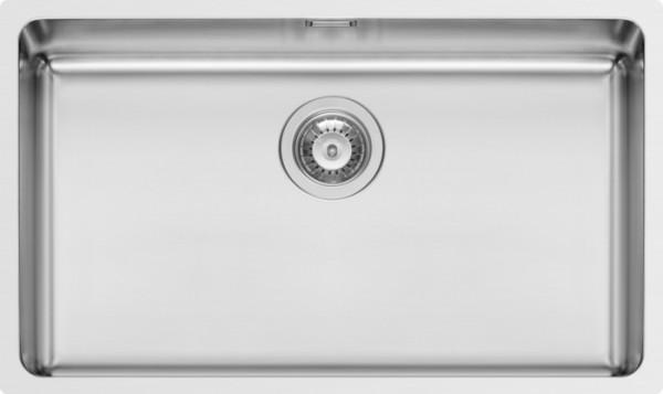 Edelstahl, Unterbau, 92mm Siebkorbventil poliert, ohne Hahnlöcher, 740x440mm
