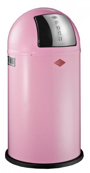 WESCO Abfallsammler Abfalleimer Mülleimer PUSHBOY PINK 50L, B 400mm, H 755mm