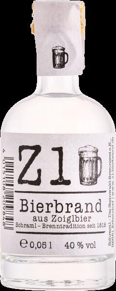 Z1 Bierbrand aus Zoigl 40%vol. 0,05 L ( 20 Flaschen)