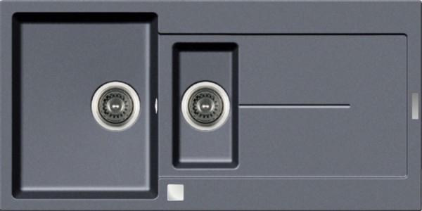 Einbauspüle E 1000, grau Restebecken,Excenter,ab 60er Unterschr.