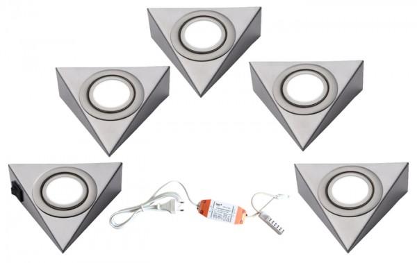 LED-PIRA 5er Set mit Schalter