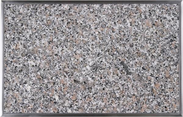 Granitfeld mit Edelstahlrahmen 510 x 325mm, Rosa Beta