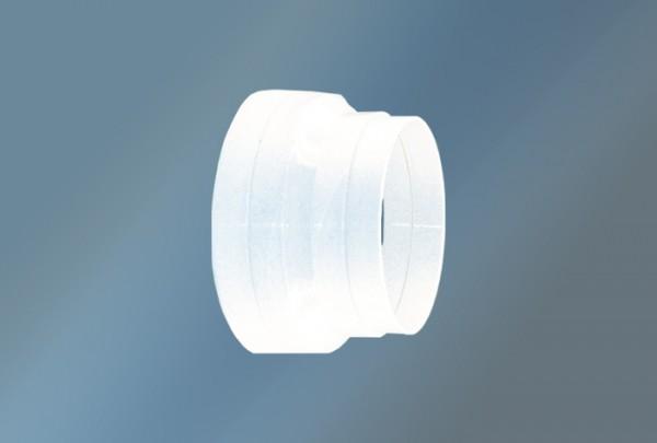 Reduzierstück/Adapter rund, weiß Durchmesser 125 auf 150 mm