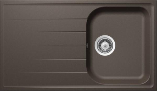 Granitspüle S 860, brown mit Excentergarnitur und Siebkorbventil