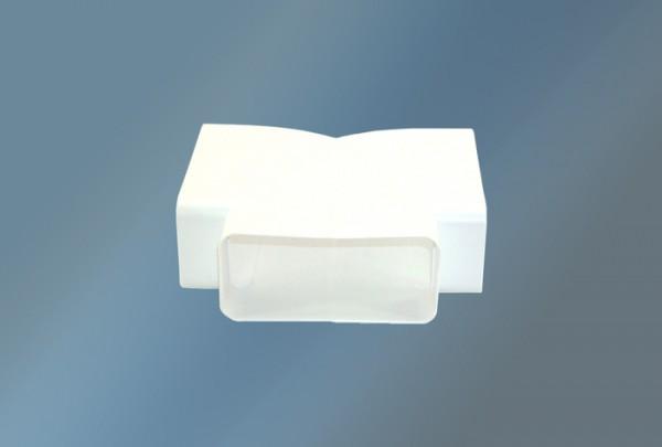T-Anschlußstück waagerecht Ø 125mm, weiß