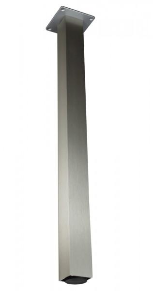 Stützfuß Vierkant klein 870 mm 50 x 50 mm, Edelstahloptik