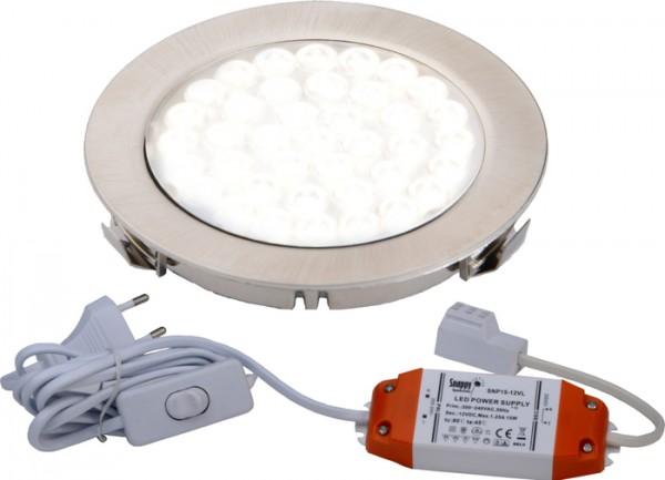 LED ARI- Einbaustrahlerset 1er mit Konverter, 2m Zuleitung, NW