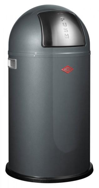 WESCO Abfallsammler Abfalleimer Mülleimer PUSHBOY GRAPHIT 50L,B 400mm, H 755mm
