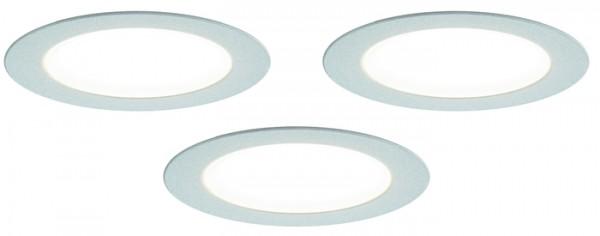 LED Einbauleuchte, 3er Set, Touchsensor 2,5 W je Stahler, NW, Kon 30W