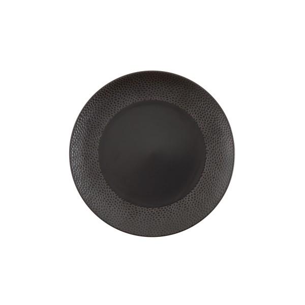 """TC Cobble Black Matte SW Plate 10.75"""" (27.5cm)"""