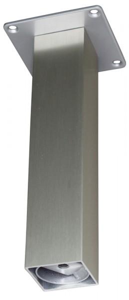 Barkonsole 50 x 50 gerade 190 mm, Edelstahloptik