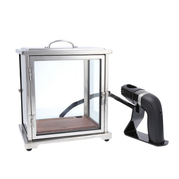 "Crafthouse SS/Glass Smoke Box w/Smoker 9.5x10.75"" (23.6x27cm"