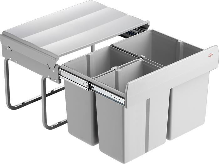 abfallsammler einbau kurze einbautiefe mit 30 liter vollauszug deine traumk che. Black Bedroom Furniture Sets. Home Design Ideas