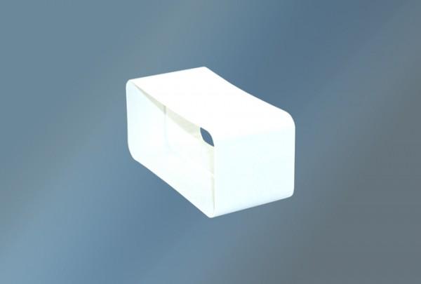 Verbindungsstück für Vierkantrohr Ø 150 mm, weiß