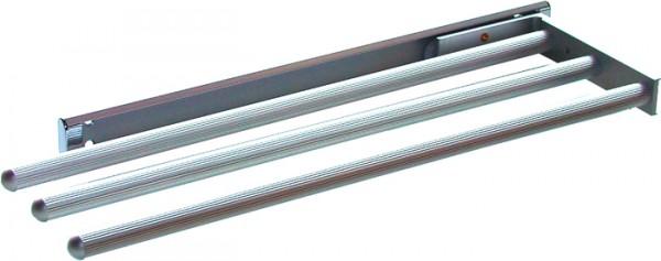 Handtuchhalter dreiarmig B- 138 mm, L- 450 mm, silber