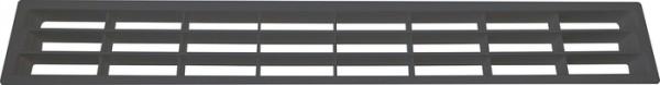 Lüftungsgitter aus Kunststoff Länge 458,5 mm, schwarz