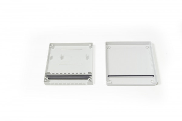 Verteilergehäuse IP 44 grau für 9-fach