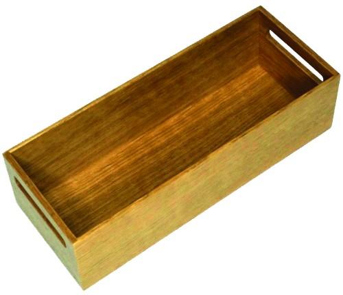 Ablagebox mit Grifflöchern,300x117,5x84mm Eiche natur