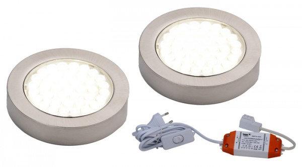 LED ARI- Aufbaustrahlerset 2er mit Konverter, 2m Zuleitung, NW