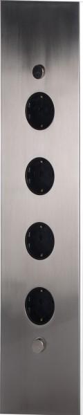 4-Fach Ecksteckdose mit 1,8m Anschlussleitung und Stecker