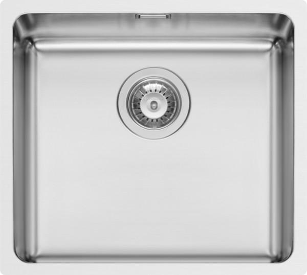 Edelstahl, Flächenbündig, 92mm Siebkorbventil poliert, ohne Hahnlöcher, 490x440mm