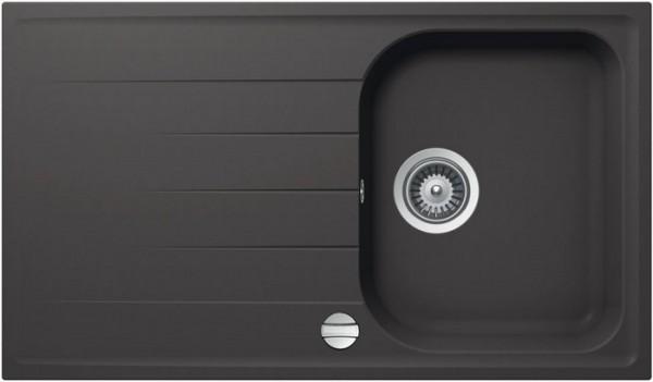 Granitspüle S 860, gray mit Excentergarnitur und Siebkorbventil