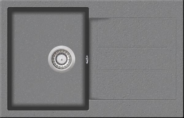 Granitspüle W 780, creme incl. Drehexcentergarnitur und Siebkorb in chrom